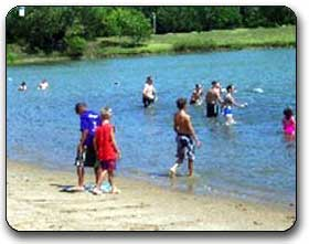Lake swimming at Lakeside Recreational Park
